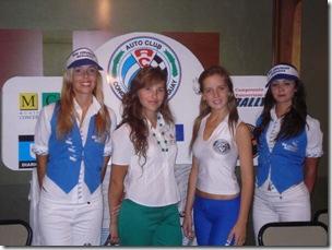 Promotoras en la presentación del Rally Entrerriano