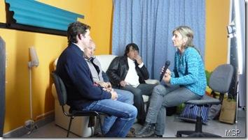 Tofay, Gilitchensky y Paniagua entrevistados en el canal de cable local