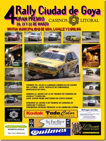 Afiche promocional del Rally Ciudad de Goya