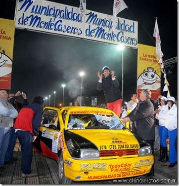 Javier Tofay y Luis Illaregui retornando al Rally Entrerriano