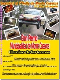 Afiche promocional Rally de Monte Caseros