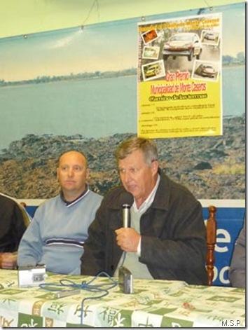 Abraham Gilitchensky y Eduardo Cornaló en la presentación del Rally de Monte Caseros 2009