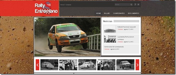 Portada Web Rally Entrerriano 2013