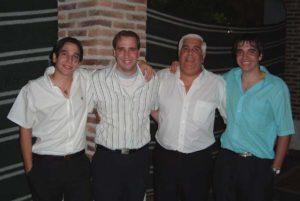 Juan, Aldito, Aldo Padre y Mario Cancelo